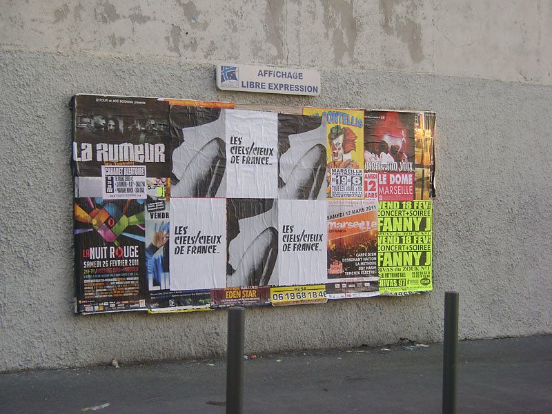 ...Avec Excoffon, Marseille, 2010 (Posters by Fiona Banner and Liam Gillick)