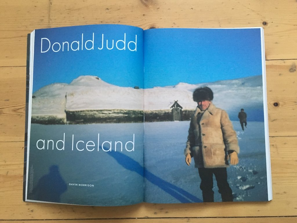 Donald Judd and Iceland